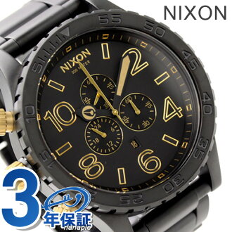 51-30 nixon Nixon watches THE CHRONO chronograph Matt Black / Gold A0831041