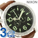 51-30 Nixon nixon Nixon watch THE CHRONO LEATHER A124 Kurono leather black / saddle A1241037