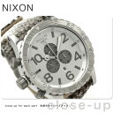 51-30 51-30 nixon Nixon watch THE CHRONO LETHER A124 Kurono leather white snake A124843 [tomorrow easy correspondence]