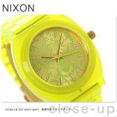 ニクソン A3271896 nixon ニクソン タイムテラー アセテート 腕時計 ネオンイエロー/ビートルポイント【あす楽対応】