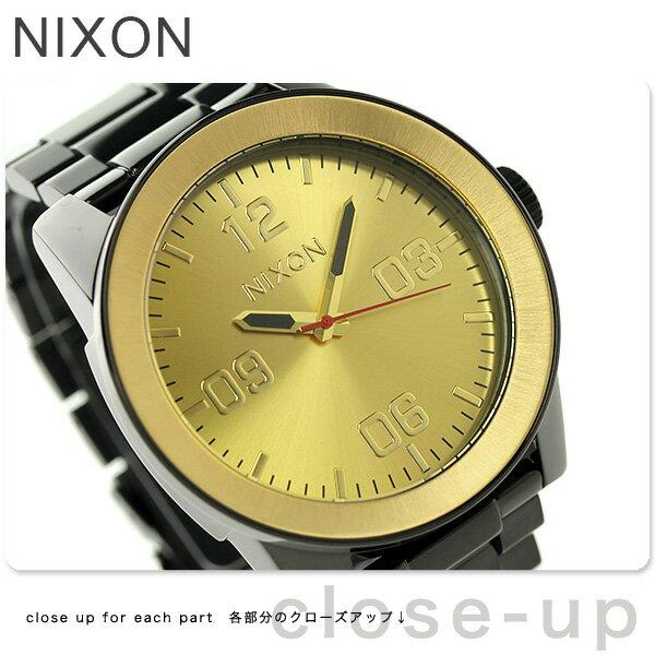 ニクソン A346010 nixon ニクソン コーポラル SS メンズ 腕時計 ブラック/ゴールド【対応】 ニクソン[新品][1年保証][送料無料]