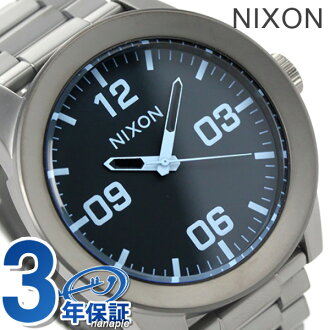 Nixon A3461427 nixon Nixon corporal SS mens watch gunmetal / Blue Crystal