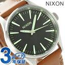 ニクソン A3771037 nixon ニクソン セントリー 38 腕時計 ブラック/サドル【あす楽対応】