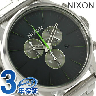 Nixon Sentry chronograph quartz men's watch A3861981 NIXON A386 but Volt Green