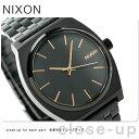 ニクソン A045957 nixon ニクソン タイムテラー クオーツ 腕時計 オールブラック/ローズゴールド