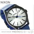 ニクソン A3772131 nixon セントリー 38 レザー 腕時計 ブラック/ブルーゲーター【あす楽対応】