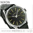 ニクソン A3772222 nixon セントリー 38 レザー ユニセックス 腕時計 ブラック/ブラス【あす楽対応】