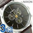 ニクソン A4051887 nixon セントリー クロノグラフ レザー メンズ 腕時計 ブラウンゲーター【あす楽対応】