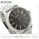 ニクソン A4502064 nixon セントリー 38 腕時計 グレー/ローズゴールド【あす楽対応】