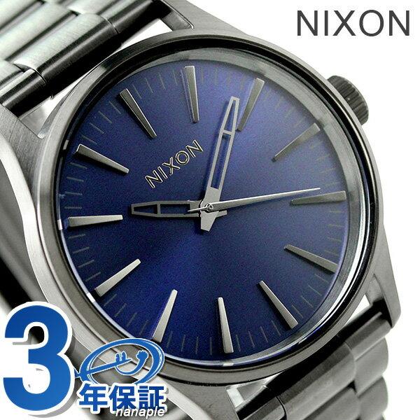 ニクソン A4502065 nixon セントリー 38 腕時計 ガンメタル/コバルト サンレイ【あす楽対応】