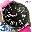 ニクソン A4672049 nixon ニクソン 38-20 レザー レディース 腕時計 ブラック/ホットピンク【あす楽対応】