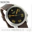 ニクソン A471019 nixon レンジャー 40 レザー 腕時計 ブラック/ブラウン【あす楽対応】