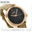 ニクソン A4711890 nixon レンジャー 40 レザー ユニセックス 腕時計 ローズゴールド/ブラウン【あす楽対応】