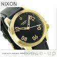 ニクソン A471513 nixon レンジャー 40 レザー ユニセックス 腕時計 ゴールド/ブラック【あす楽対応】