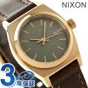 ニクソン A5092001 nixon ニクソン スモール タイム テラー レザー レディース 腕時計 ローズゴールド/ガンメタル/ブラウン【あす楽対応】
