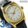 ニクソン スモール タイムテラー レザー レディース 腕時計 A5092032 NIXON ホワイト/ゴールド/ブラック ゲーター【あす楽対応】