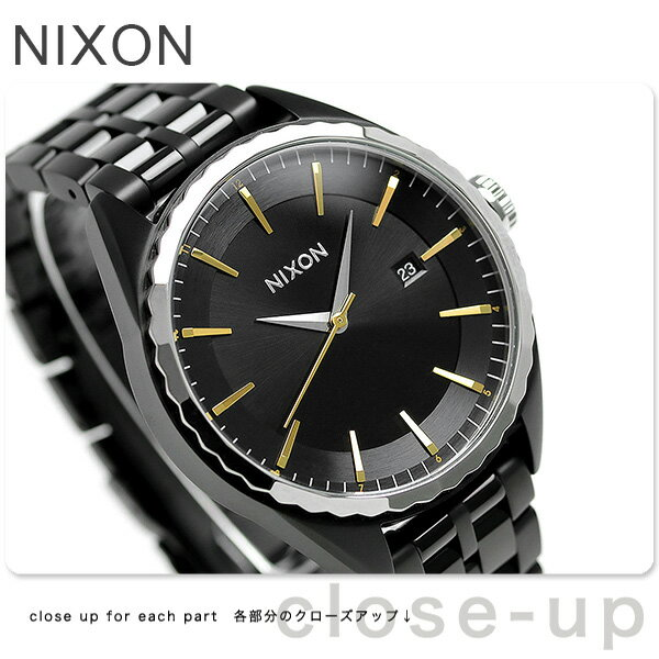 ニクソン ミンクス クオーツ レディース 腕時計 A9342126 nixon オールブラック/ゴールド/シルバー【対応】 [新品][1年保証][送料無料]
