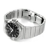 オメガOMEGAメンズ腕時計コンステレーションローマ数字ブラックシルバー123.10.35.60.01.001新品