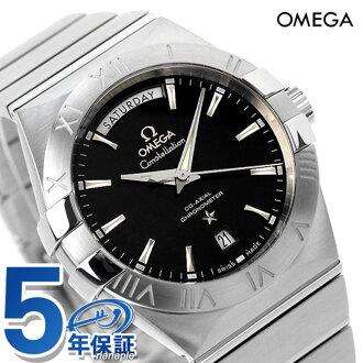 歐米茄計時同軸手錶 123.10.38.22.01.001 歐米茄星座 38 毫米黑色