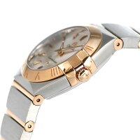オメガコンステレーション24mmレディーススイス製123.20.24.60.02.001OMEGA腕時計K18シルバー×レッドゴールド新品
