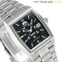 オリエント 逆輸入 海外モデル スリースター 自動巻き URL033NQ ORIENT 腕時計 ブラック