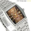 オリエント 逆輸入 海外モデル スリースター 自動巻き URL035NQ ORIENT 腕時計 ブラウン