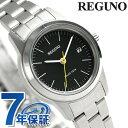 シチズン レグノ ソーラーテック レディース 腕時計 KM4-015-53 CITIZEN REGUNO ブラック 時計【あす楽対応】
