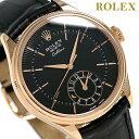 ロレックス チェリーニ デュアルタイム 39 自動巻き ROLEX 50525 腕時計 新品 ブラック 時計【あす楽対応】