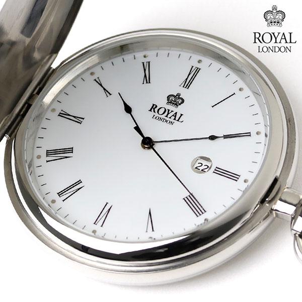ロイヤルロンドン 懐中時計 クオーツ 90001-01 ROYAL LONDON ポケットウォッチ 時計