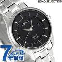 セイコー 日本製 ソーラー レディース 腕時計 STPX043 SEIKO ブラック【あす楽対応】