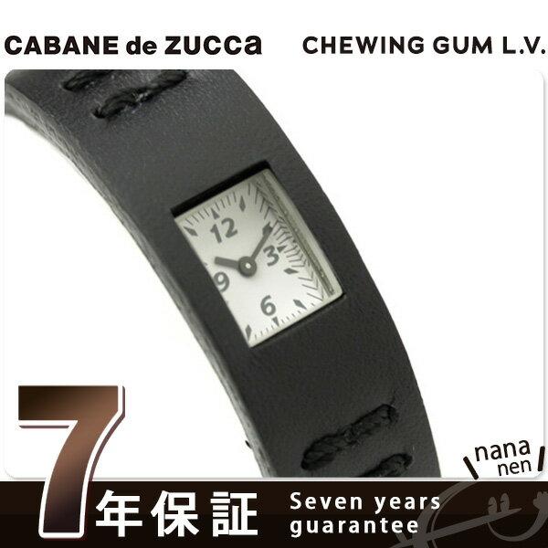 ズッカ CABANE de ZUCCa カバン ド ズッカ 腕時計 チューイングガム レザーバージョン AWGK019 ブラック