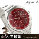agnes b.(アニエスベー)アニエスb メンズ 腕時計 ソーラー クロノグラフ レッド FBRD989