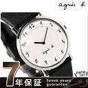 アニエスベー agnes b. ユニセックス 腕時計 カーフベルト ホワイト FBRT987【あす楽対応】
