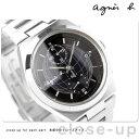 アニエスベー agnes b. メンズ クロノグラフ 腕時計 グリッドデザインシリーズ ブラック FBRV981