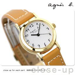 【20日なら全品5倍以上!店内ポイント最大46倍】 <strong>アニエスベー</strong> 時計 レディース ソーラー FBSD980 agnes b. キャメル 革ベルト 腕時計