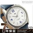 マッキントッシュ フィロソフィー 腕時計 コベントリー デイト メンズ ホワイト×ブルー レザーベルト MACKINTOSH PHILOSOPHY FBZT996