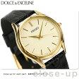 セイコー ドルチェ クオーツ ペアウォッチ メンズ SACM150 SEIKO DOLCE&EXCELINE 腕時計 ゴールド×ブラック レザーベルト