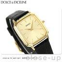 セイコー ドルチェ クオーツ ペアウォッチ メンズ SACM154 SEIKO DOLCE&EXCELINE 腕時計 ゴールド×ブラック レザーベルト