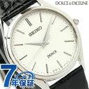 セイコー ドルチェ クオーツ ペアウォッチ メンズ SACM171 SEIKO DOLCE&EXCELINE 腕時計 シルバー×ブラック レザーベルト【あす楽対応】