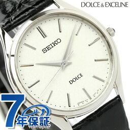 【25日当店ならさらに+29倍に1,000円割引クーポン】 セイコー ドルチェ&エク<strong>セリーヌ</strong> メンズ SACM171 SEIKO DOLCE&EXCELINE 腕時計 シルバー×ブラック 革ベルト 時計