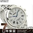セイコー スピリット 電波ソーラー ペアウォッチ メンズ 腕時計 SBTM183 SEIKO SPIRIT ホワイト