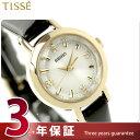 セイコー ティセ 腕時計 ソーラー レディース クラシックローズ 佐々木希 ホワイト×ブラック レザーベルト SEIKO TISSE SWFA140