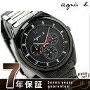 アニエスベー マルセイユ ソーラー メンズ FBRD976 agnes b. 腕時計 マルチファンクション オールブラック