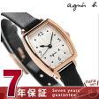 【ペンケース プレゼント♪】アニエスベー クオーツ レディース 腕時計 FBSK952 agnes b. シルバー×ブラック レザーベルト