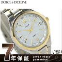 セイコー ドルチェ 電波ソーラー コンフォテックス チタン ペアウォッチ メンズ SADZ136 SEIKO DOLCE&EXCELINE 腕時計 ホワイト×ゴールド