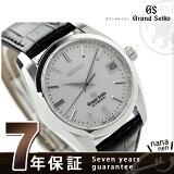 SBGR087 グランドセイコー 自動巻き メンズ 腕時計 GRAND SEIKO シルバー×ブラック レザーベルト
