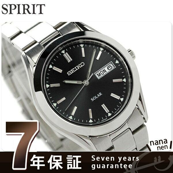 セイコー スピリット ソーラー メンズ 腕時計 SBPX009 SEIKO SPIRIT ブラック