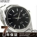 セイコー スピリット ソーラー チタン メンズ 腕時計 SBPX077 SEIKO SPIRIT ブラック
