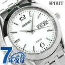 セイコー スピリット ソーラー メンズ SBPX079 SEIKO SPIRIT 腕時計 ホワイト 時計