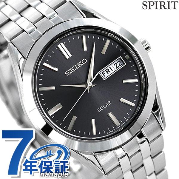 セイコー スピリット ソーラー ペアウォッチ メンズ SBPX083 SEIKO SPIRIT 腕時計 ブラック【あす楽対応】